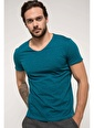 DeFacto Basic V Yaka T-shirt Yeşil